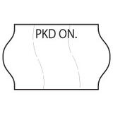 18x11 Meto PKD ON (Packed On) Labels, Permanent Adhesive, Tamper Proof, Paper